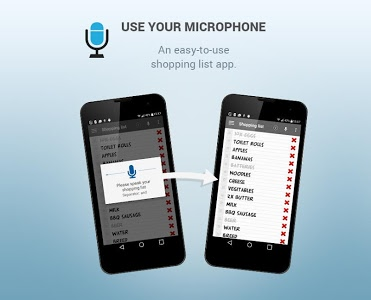 screenshot of Shopping list voice input version 4.3.6