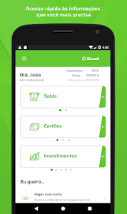 screenshot of Sicredi para Smartphone version 5.0.9