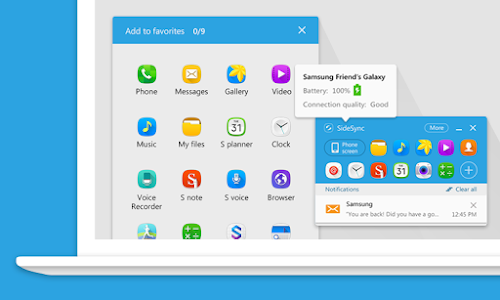screenshot of SideSync version 4.7.7.2