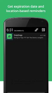 screenshot of SnipSnap Coupon App version 1.4