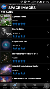 screenshot of Space Images version 3.0