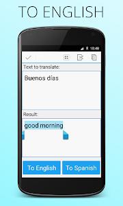 screenshot of Spanish English Translator version Varies with device