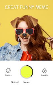 screenshot of Sweet Snap - live Face filter , Selfie Camera edit version 2.12.156