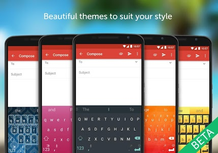 screenshot of SwiftKey Beta version Varies with device