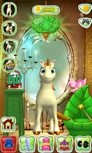 screenshot of Talking Unicorn version 1.8