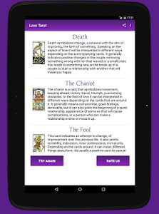 screenshot of Free Tarot Reading - Online Tarot & Cards Meaning version Read more