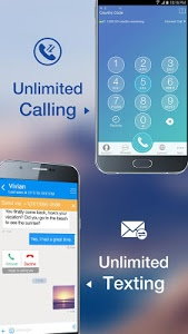 screenshot of Telos Free Phone Number & Unlimited Calls and Text version 1.0.8