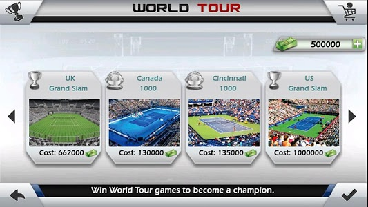 screenshot of 3D Tennis version 1.7.7