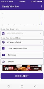 screenshot of Thirdy VPN version 5.1.6