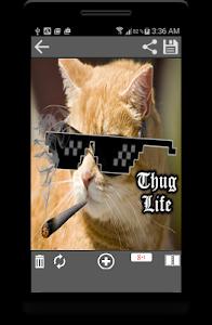 screenshot of Thug Life Photo Maker Editor version 1.28