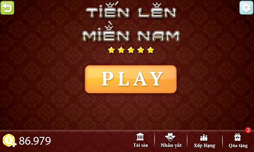 screenshot of Tien Len - Thirteen - Mien Nam version 2.2.1