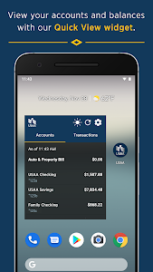 screenshot of USAA Mobile version Varies with device