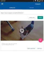 screenshot of Video Downloader for Instagram version 1.1.12