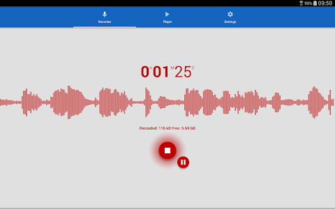 screenshot of Voice Recorder version 2.0.15