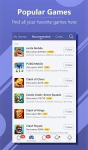 screenshot of WeGamers version 3.3.2 (13645)