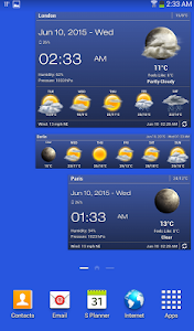 screenshot of Weather & Clock Widget for Android version 5.9.5.3