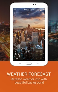 screenshot of Weather app version 4.4