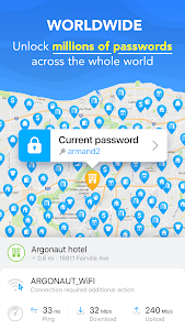 screenshot of WiFi Map — Free Passwords & Hotspots version 4.1.5