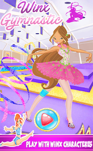 screenshot of Winx Magic Fairy Gymnastics version winx-club