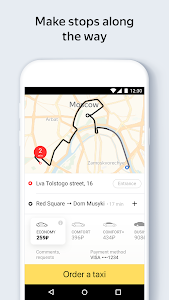 screenshot of Yandex.Taxi Ride-Hailing Service version 3.85.1