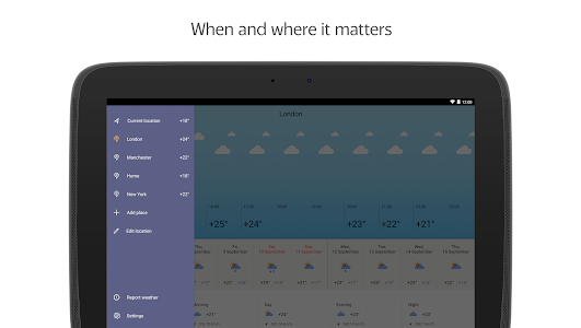 Download Yandex.Weather 6.4 APK