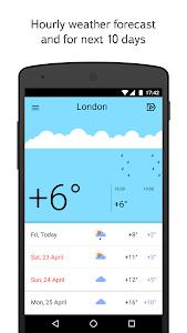screenshot of Yandex.Weather version 4.4