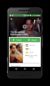 screenshot of YIFY Browser (Yts) version 1.0