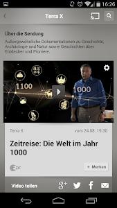 screenshot of ZDFmediathek version 2.4.1