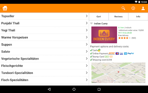 screenshot of Lieferando.de: Order Food version 3.6.0
