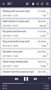 screenshot of voice recorder version 31